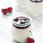 Cherry, Hibiscus, and Goat Cheese Panna Cotta