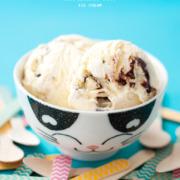 Dark Chocolate and Marzipan Ice Cream