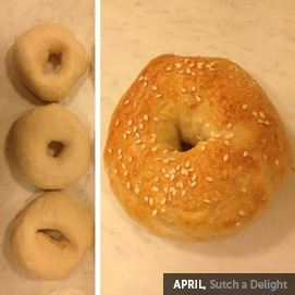 Kitchen Challenge, Bagels: April