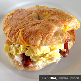 Kitchen Challenge, Bagels: Cristina