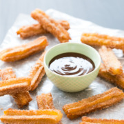 Cinnamon Churros with Chocolate Dulce de Leche