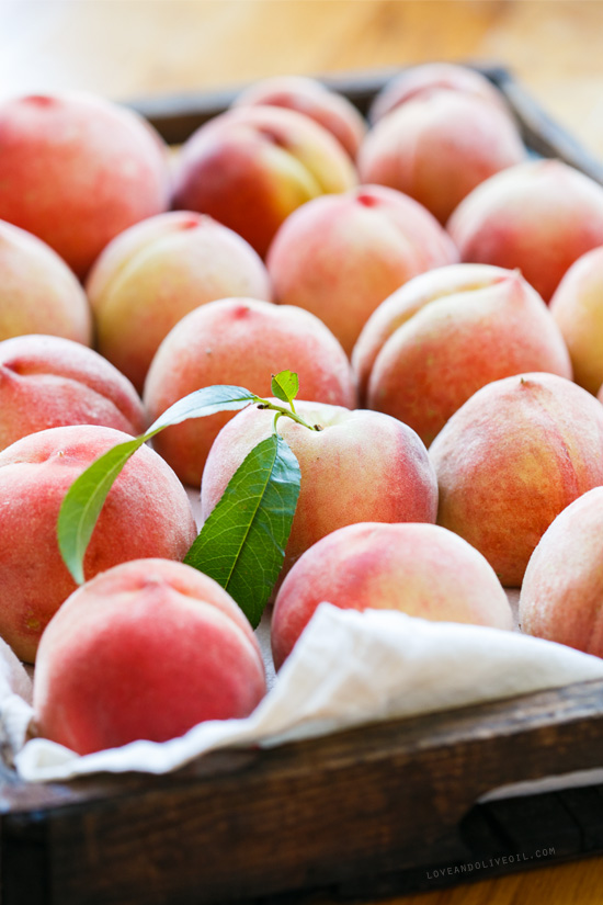Fresh Picked White Peaches
