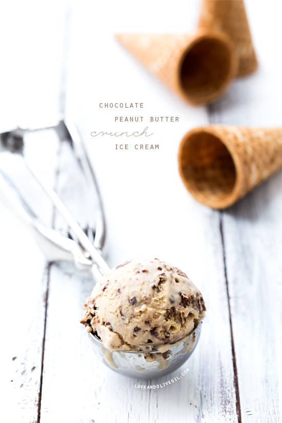 Chocolate Peanut Butter Crunch Ice Cream