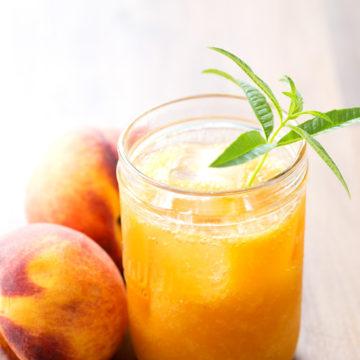 Fresh Peach & Lemon Verbena Soda