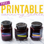 Free Mix 'N Match Printable Canning Labels
