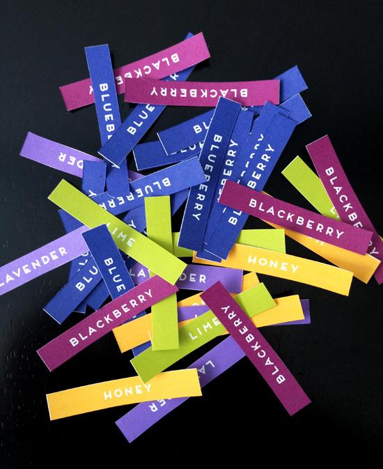 Free Printable Blueberry Jam Labels