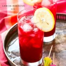 Lemon Hibiscus Soda