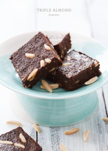 Triple Almond Brownies