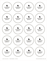 Free Printable Blackberry Applesauce Canning Labels