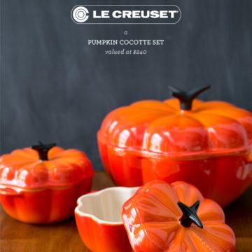 Le Creuset Pumpkin Cocotte Giveaway