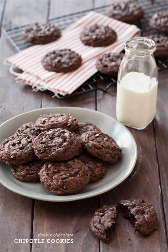 Double Chocolate Chipotle Cookies