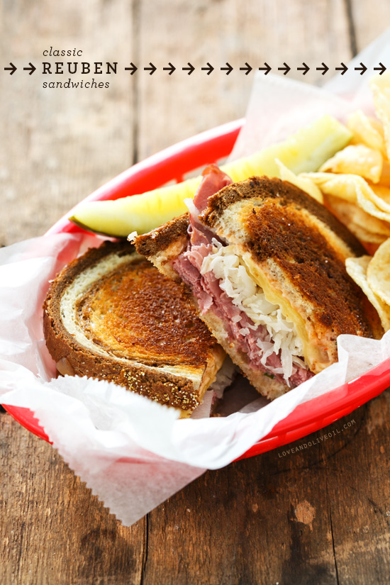 Classic Reuben Sandwiches Love And Olive Oil
