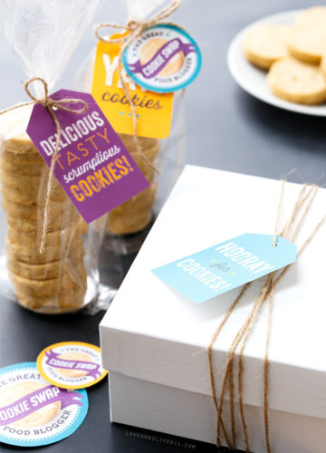 Cookie Swap Printable Tags and Stickers