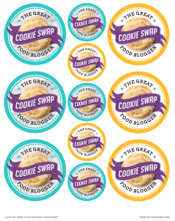 Cookie Swap 2013 Printable Stickers