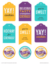 cookie swap printable gift tags and labels love and olive oil