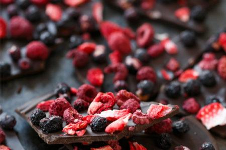 Fruity Chocolate Bark with Freeze-Dried Fruit