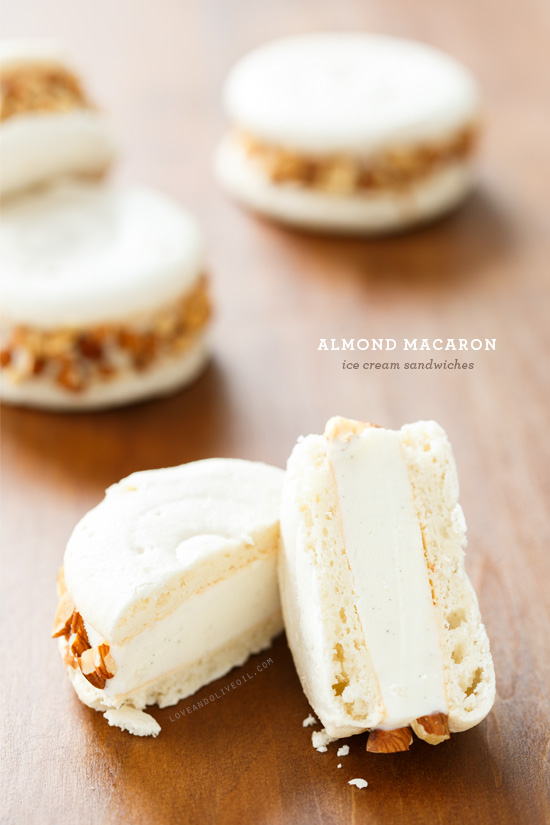 Almond Macaron Ice Cream Sandwiches