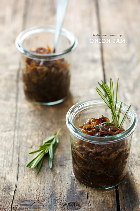 Balsamic Rosemary Onion Jam | Love and Olive Oil