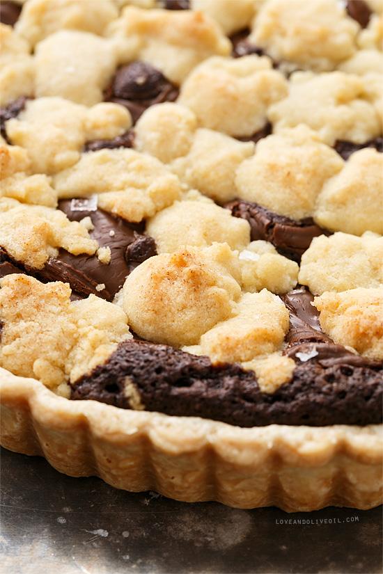 Nutella Swirl Brownie & Sugar Cookie Tart