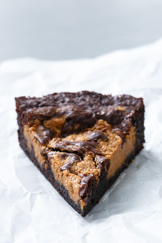 ... peanut butter earthquake. Indeed, these peanut butter swirl brownies