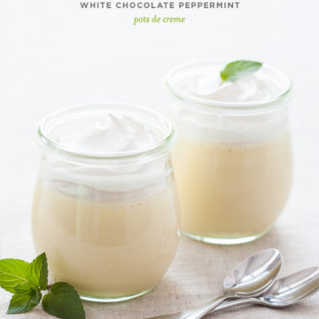 No-Bake White Chocolate Peppermint Pots de Creme