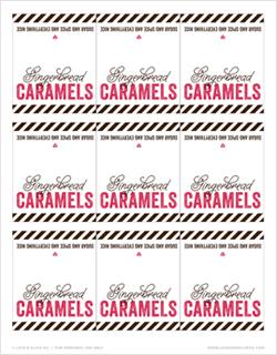 Free Printable Gingerbread Caramel Labels