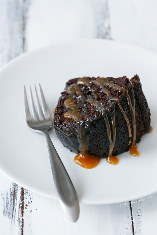 Chocolate Whiskey Bundt Cake with Whiskey Caramel Sauce | Love and ...