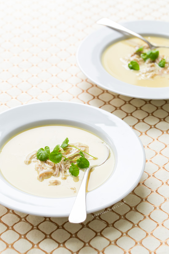 Greek Lemon Soup With Chicken And Orzo Love And Olive Oil