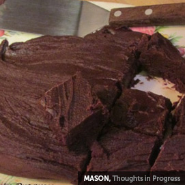 Kitchen Challenge, Fudge: Mason