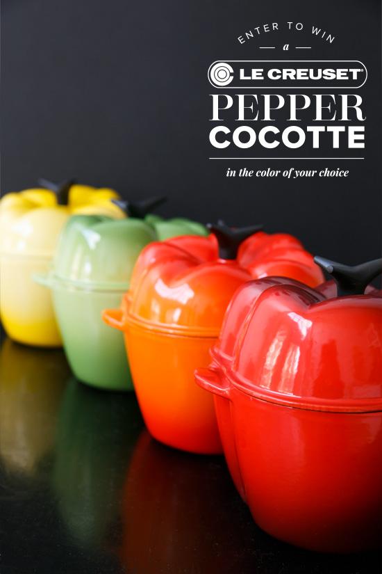 Le Creuset® Pepper Cocotte GIVEAWAY