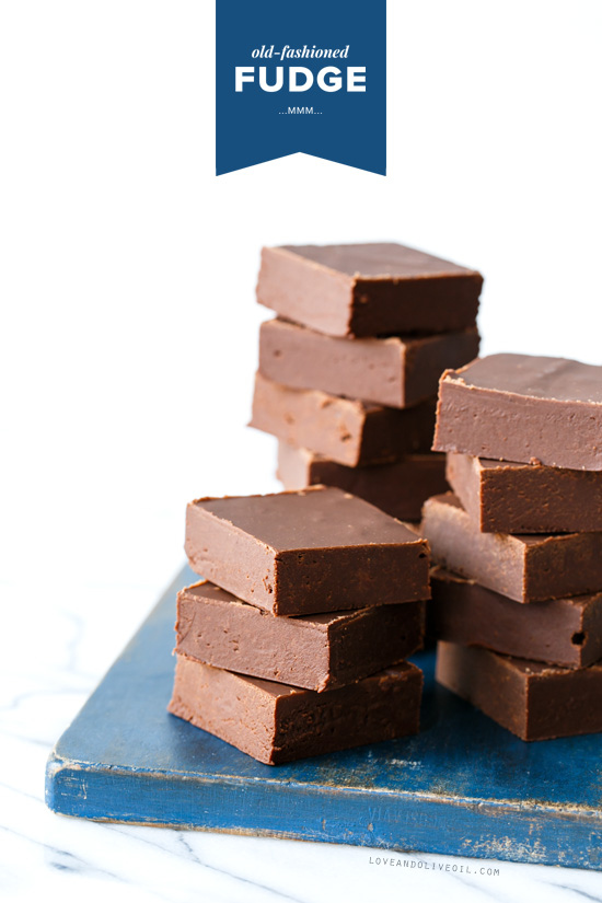 Old-Fashioned Fudge from @loveandoliveoil