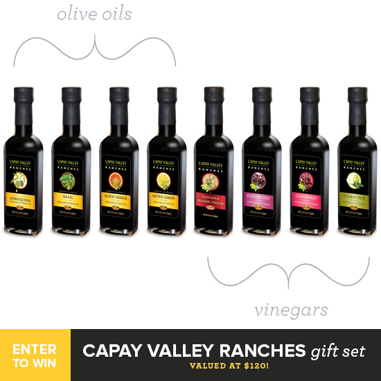 Capay Valley Ranches Olive Oil & Vinegar Giveaway from @loveandoliveoil