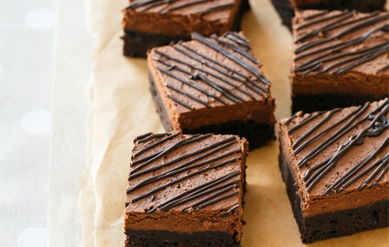 Chocolate Mousse Brownies from @loveandoliveoil