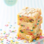 White Chocolate Funfetti Blondies Recipe