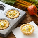 Golden Beet Mini Quiches from @loveandoliveoil