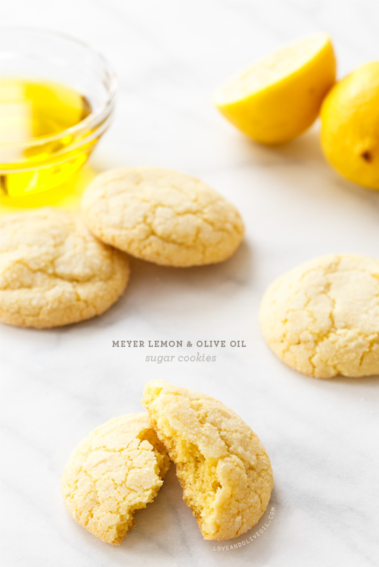 Meyer Lemon Olive Oil Sugar Cookies from @loveandoliveoil