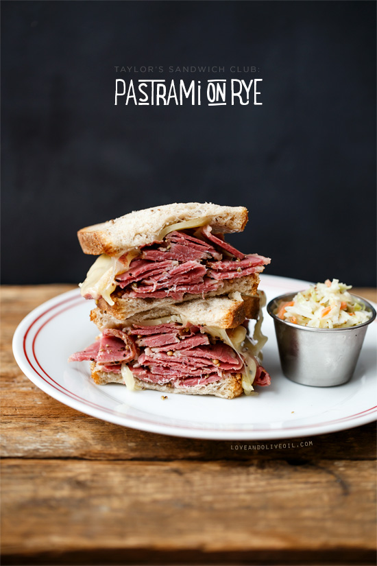 Pastrami on Rye Sandwiches from @loveandoliveoil