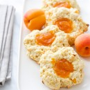 Apricots & Cream Thumbprint Scones from @loveandoliveoil