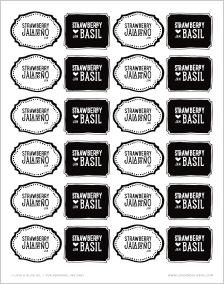 Free Printable Strawberry Jam Labels