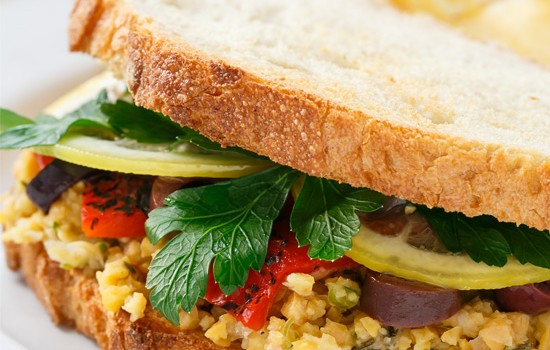 Marinated Chickpea Sandwiches from @loveandoliveoil