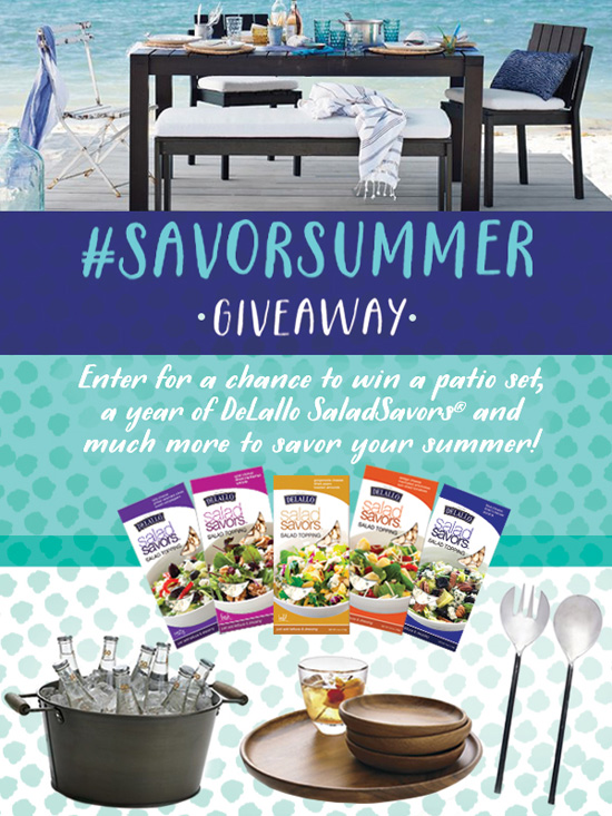 DeLallo #SavorSummer Al Fresco Dining Giveaway from @loveandoliveoil