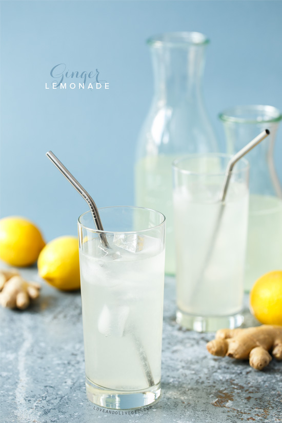 Ginger Lemonade | Love and Olive Oil
