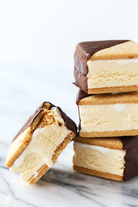 Chocolate-Dipped S'Mores Ice Cream Sandwiches | Love and ...