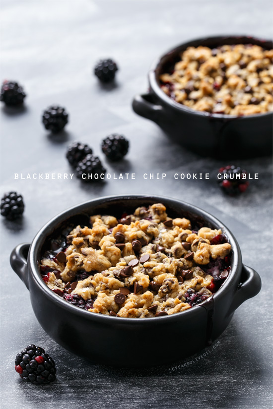 Blackberry Chocolate Chip Cookie Crumble from www.loveandoliveoil.com