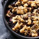 Blackberry Chocolate Chip Cookie Crumble
