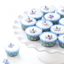 Almond Fairy Cakes with Candied Borage
