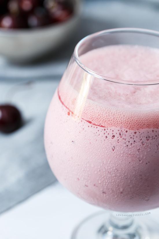 Cherry Lambic Beer Milkshakes for #MilkshakeWeek from @loveandoliveoil