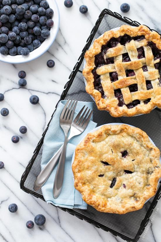 Fresh Blueberry Pie from www.loveandoliveoil.com