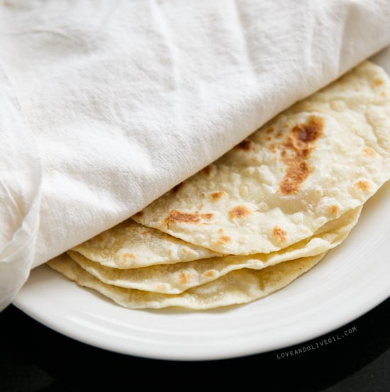 Homemade Flour Tortillas with Lard from www.loveandoliveoil.com