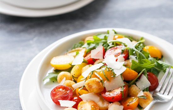 Warm Gnocchi and Heirloom Tomato Salad